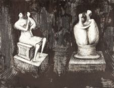 Henry Moore (1898-1986) Sculptures Dark Interior, 1973 proof aside from the edition of 75 lithograph
