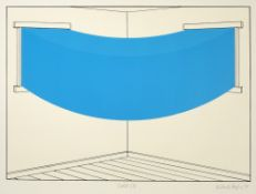 Patrick Hughes (b.1939) Solid Sky, 1979 signed, dated, and titled in pencil (in the margin)