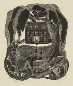 Lettice Sandford (1902-1993) Eye Manor signed and titled (in pencil) wood engraving 38 x 27cm.