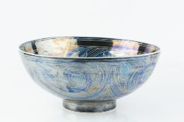 Julia Carter Preston (1926-2012) Bowl lustre glazed with blue and turquoise Islamic style floral