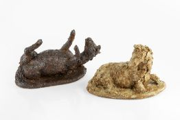 Jill Tweed (b.1931) Two models of Horses both signed cold-cast bronzes 25cm and 28cm wide (2).