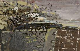 Douglas Swan (1935-2000) The Garden Gate mixed media 36 x 55cm. Provenance: Modern British