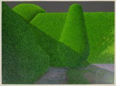 Norman Stevens (1937-1988) A Corner of Crathes Castle Garden, 1982 115/125, signed, titled, dated,