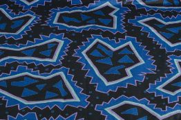Nathalie du Pasquier (b.1957) for Memphis Memphis fabric, 1982 screen printed cotton fabric marked