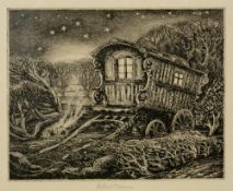 Robin Tanner (1904-1988) The Plough 8/50, signed and numbered in pencil etching 16 x 18cm.