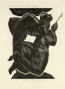 Leon Underwood (1890-1975) Black Angel signed and titled twice in pencil wood engraving 18.5 x
