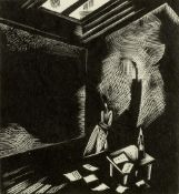 Paul Nash (1889-1946) Northern Muse, 1923 numbered 8/15 in pencil woodcut 13.5 x 12cm.
