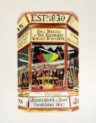 Glynn Boyd Harte (1948-2003) James Smith & Sons (Umbrella Shop) 13/160, signed and numbered in