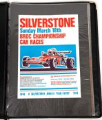 A folder of thirty three 1970's Silverstone race meet posters, most 58cm x 41cmCondition report: all