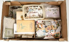 A collection of 20th century stamps and a small collection of cigarette cardsCondition report: At