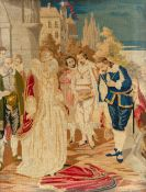 A 19th century embroidered picture, 66cm wide x 90cm high, framed and glazedCondition report: