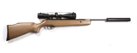 A 22 air rifle with a Browning 3-9 x 40 lens, a silencer and an SMK case, 115.5cm in lengthCondition