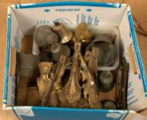 A collection of various 19th century bells, furniture fittings etcCondition report: At present,