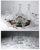 A collection of Waterford cut glassware to include tumblers and wine glasses together with a
