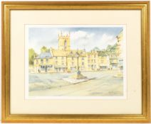 Kenneth W. Burton (1947) a set of eight prints of Gloucestershire to include Morton-in-the-Marsh,