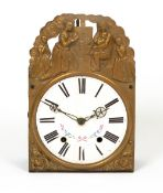 A french comtoise wall clock, with pendulum but no striking train in the movement (for restoration)