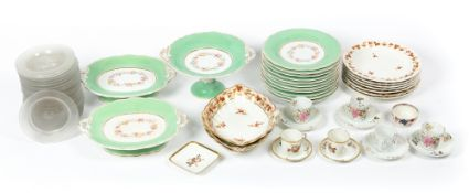 A collection of china and glass to include a Victorian Pearlware dessert service, a collection of