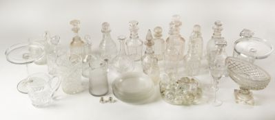 A large collection of glassware, decanters, wine glasses, decanter stoppers etcCondition report: