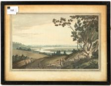 A view of Abingdon from Newnham Park by JS Stadler, print, 35cm x 19cm; a View from Newnham