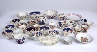 A collection of Victorian china to include Welsh Gaudy wear, a Crown Derby cup etcCondition
