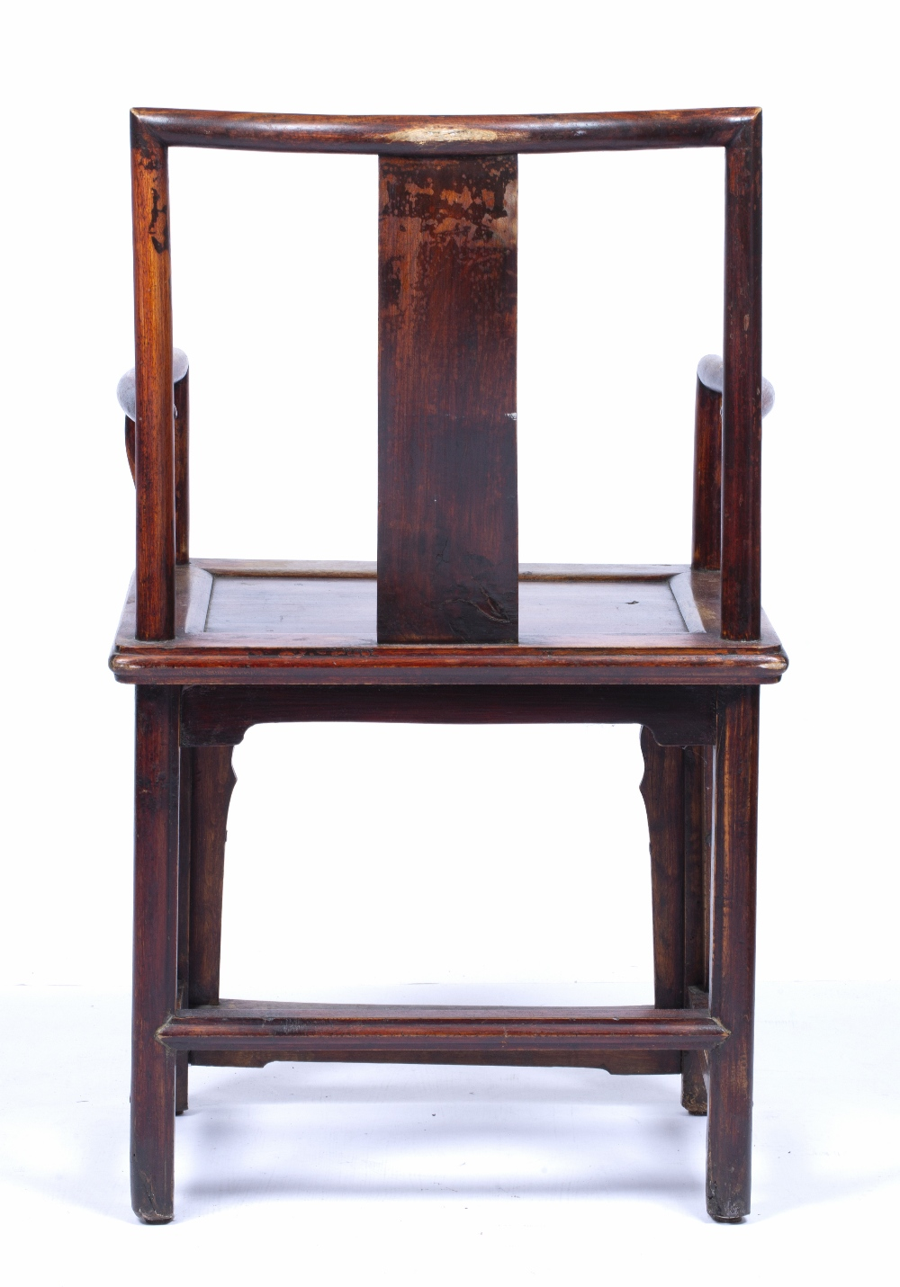 Ming style throne chair Chinese, 19th Century with roundel carved to the back, 95.5cm high, 57cm - Image 4 of 5