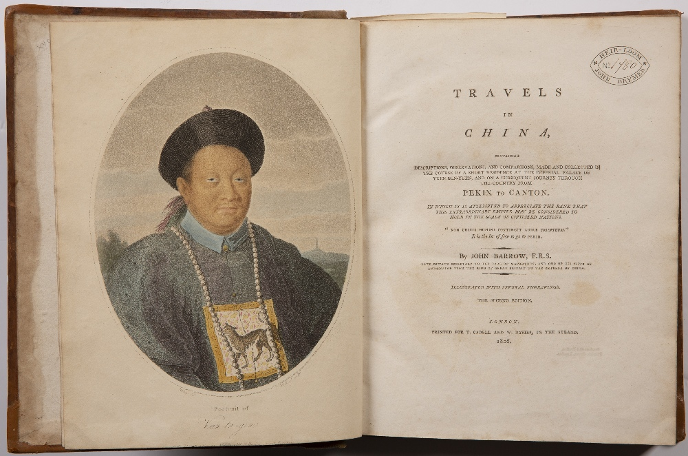Barrow (John) Travels in China second edition, 5 hand-coloured aquatint plates, 3 engraved plates - Image 2 of 7