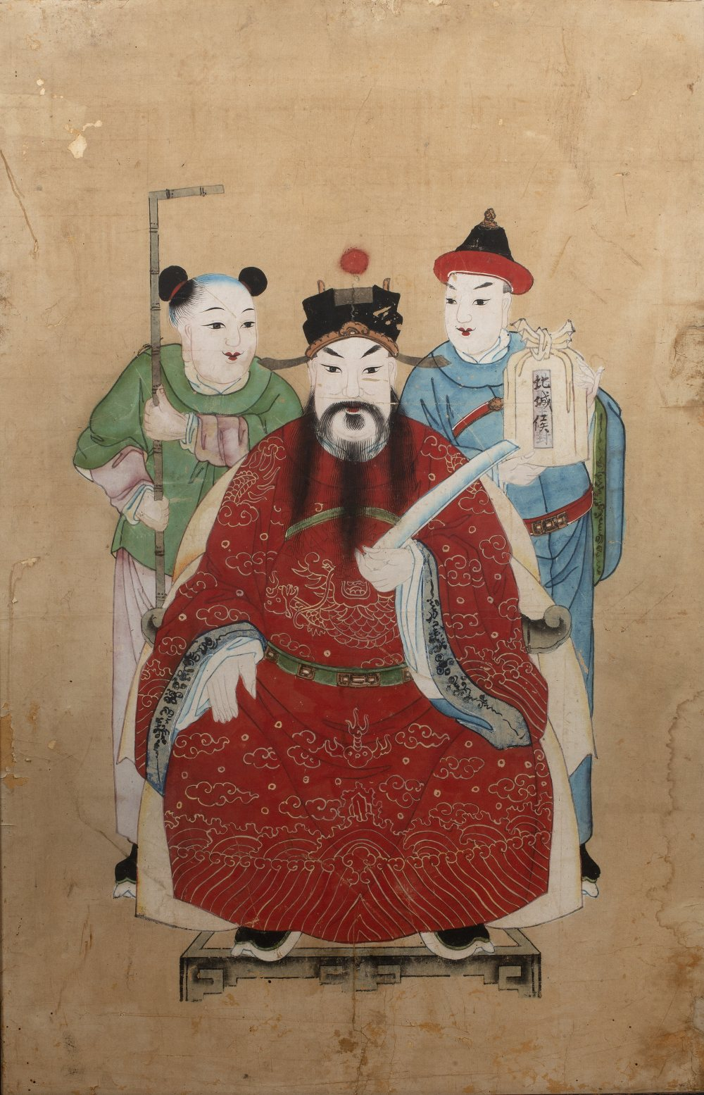 Four group court studies Chinese, 19th Century watercolour on paper of various poses and sizes, - Image 5 of 12