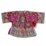 Peranakan skirt and jacket Chinese/Malaysian embroidered with floral and other motifs, the jacket