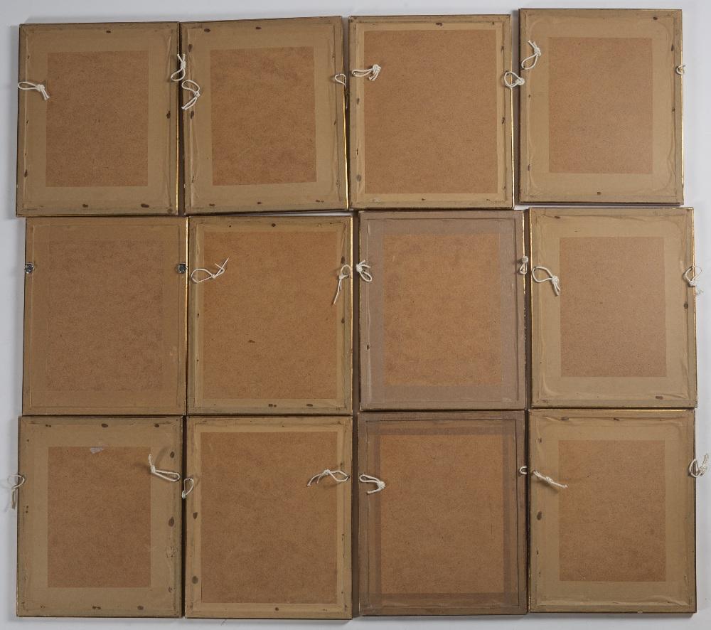 Set of twelve erotic prints Chinese each set in different landscapes, framed and glazed, 17cm x 12cm - Image 2 of 2
