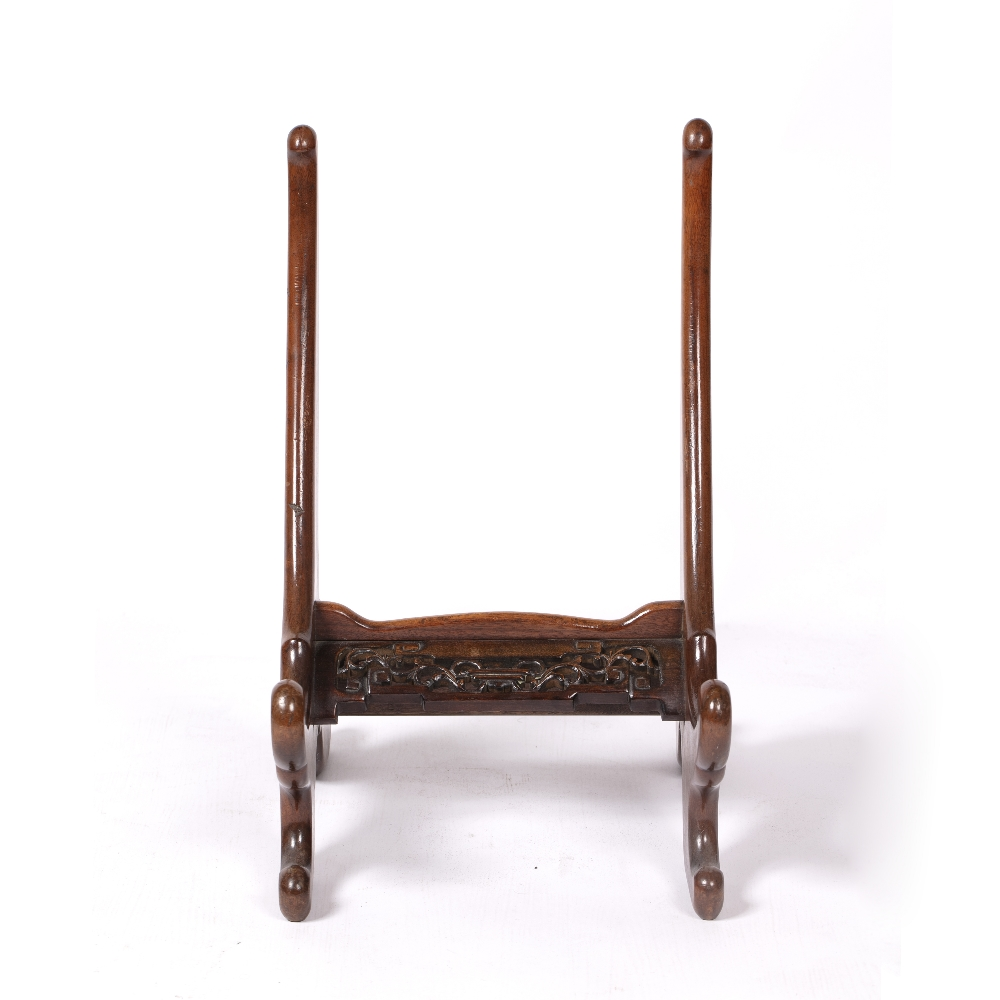 Large carved wood charger stand Chinese 53cm high x 32cm across - Image 2 of 4