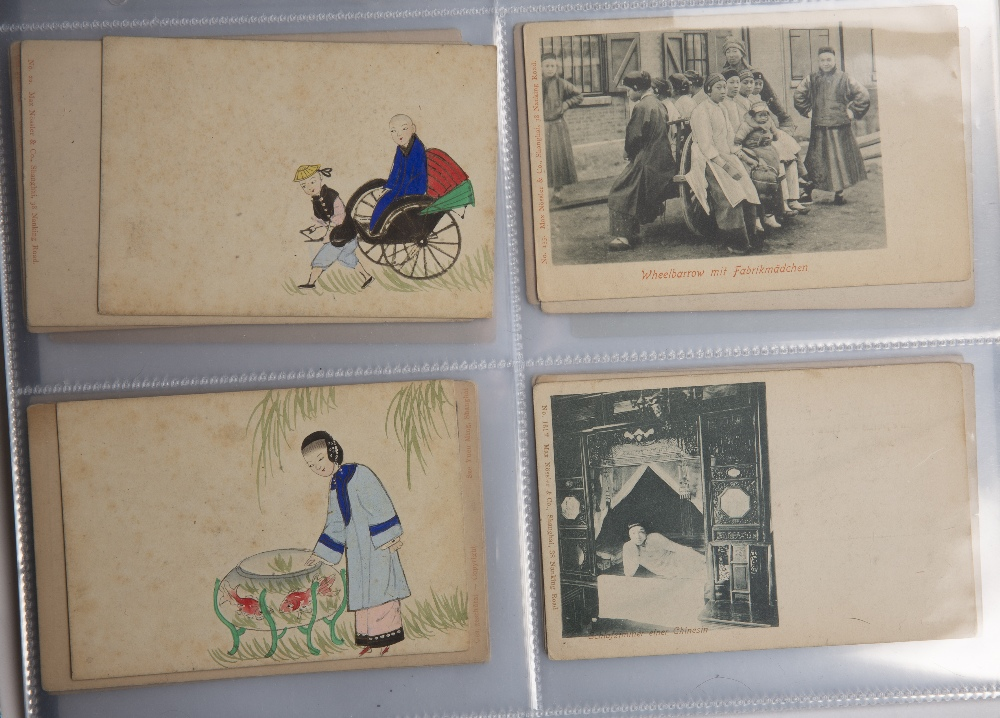 Collection of postcards including hand painted examples Malaya, Singapore, Japan and China circa - Image 4 of 6