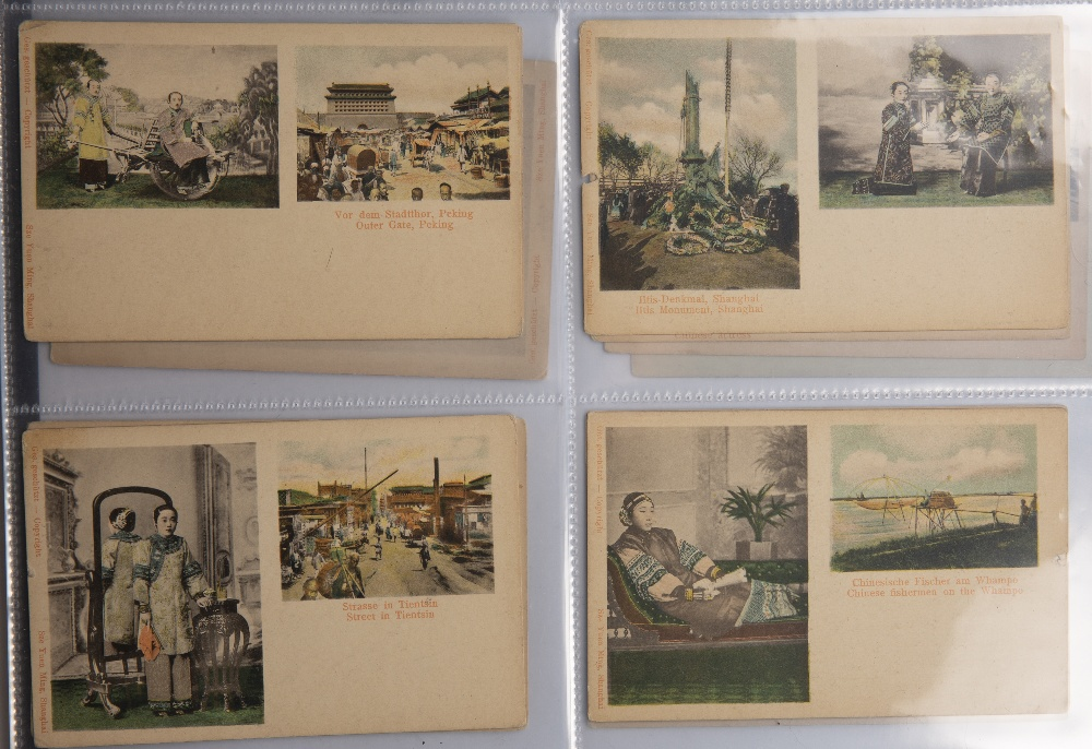 Collection of postcards including hand painted examples Malaya, Singapore, Japan and China circa - Image 6 of 6