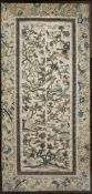 Two silk and embroidered sleeve bands/panels Chinese, 19th/20th Century the larger panel,