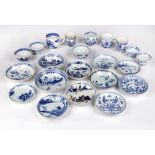 Collection of teabowls, cups and saucers Chinese, 17th Century and later comprising of twelve