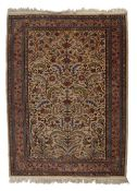 Ivory ground rug Persian with tree of life design within a foliate border, 130cm x 180cm approx