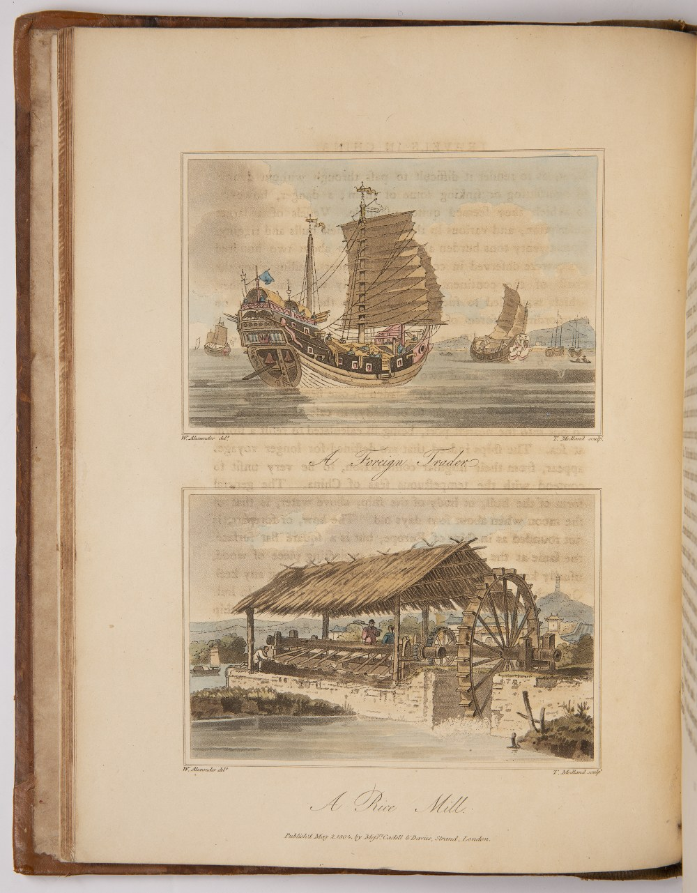 Barrow (John) Travels in China second edition, 5 hand-coloured aquatint plates, 3 engraved plates - Image 6 of 7