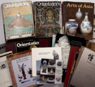 Large collection of Asian art magazines and publications including Orientations, Arts of Asia,