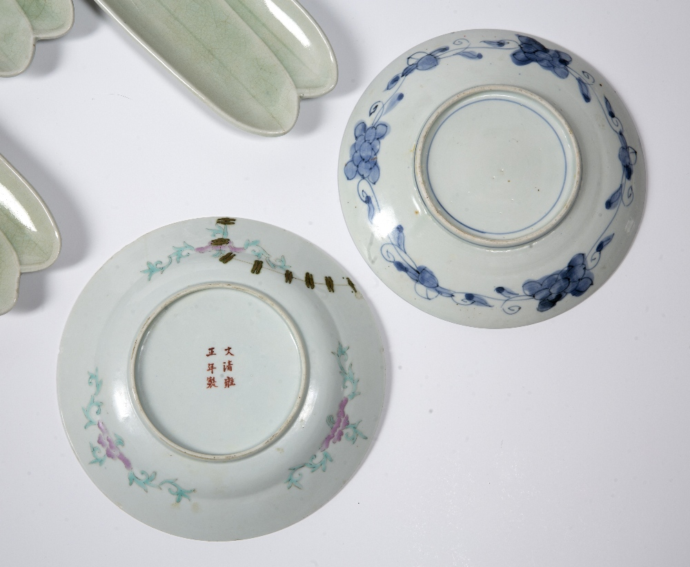 Group of pieces Chinese and Japanese to include four ginger jars, eight leaf celadon dishes, three - Image 2 of 2