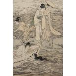 Kitagawa Utamaro (1753-1806) 'Abalone Divers at Chopping Block Rock at Iwaya in Enoshima' Japanese