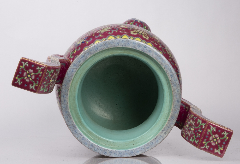 Porcelain 'Bajixiang' tripod censer Chinese, 18th/19th Century decorated with famille rose enamels - Image 11 of 12