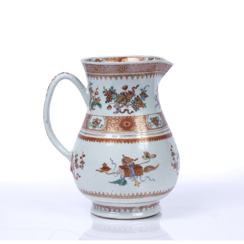Iron-red jug Chinese, Yongzheng period (1723-1735) based on a European form, the bulbous body - Image 2 of 5