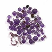 Collection of amethyst beads Chinese of varying sizes Condition: at present, there is no condition