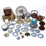 Group of pieces Chinese including Yixing ware, famille rose, soapstone seal and other pieces