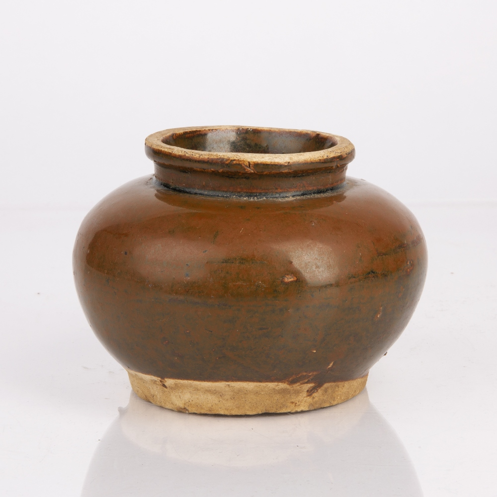 Small brown glazed bowl Chinese, Song Dynasty 13cm diameter x 9cm high Condition: wear and firing - Image 2 of 4