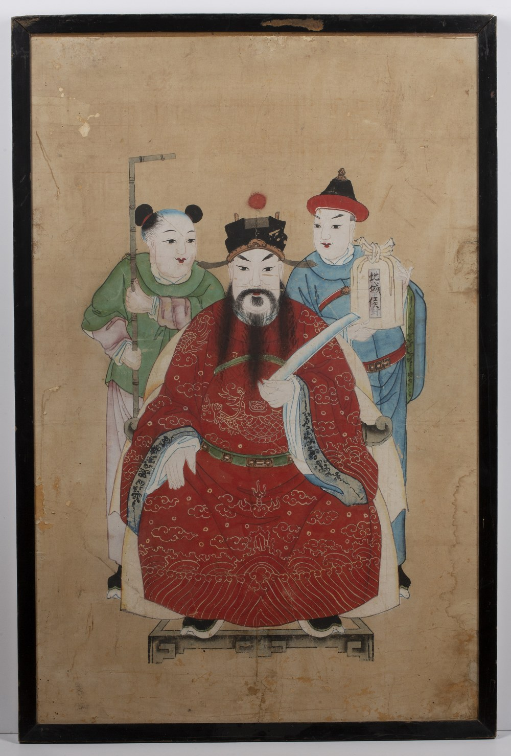 Four group court studies Chinese, 19th Century watercolour on paper of various poses and sizes, - Image 9 of 12