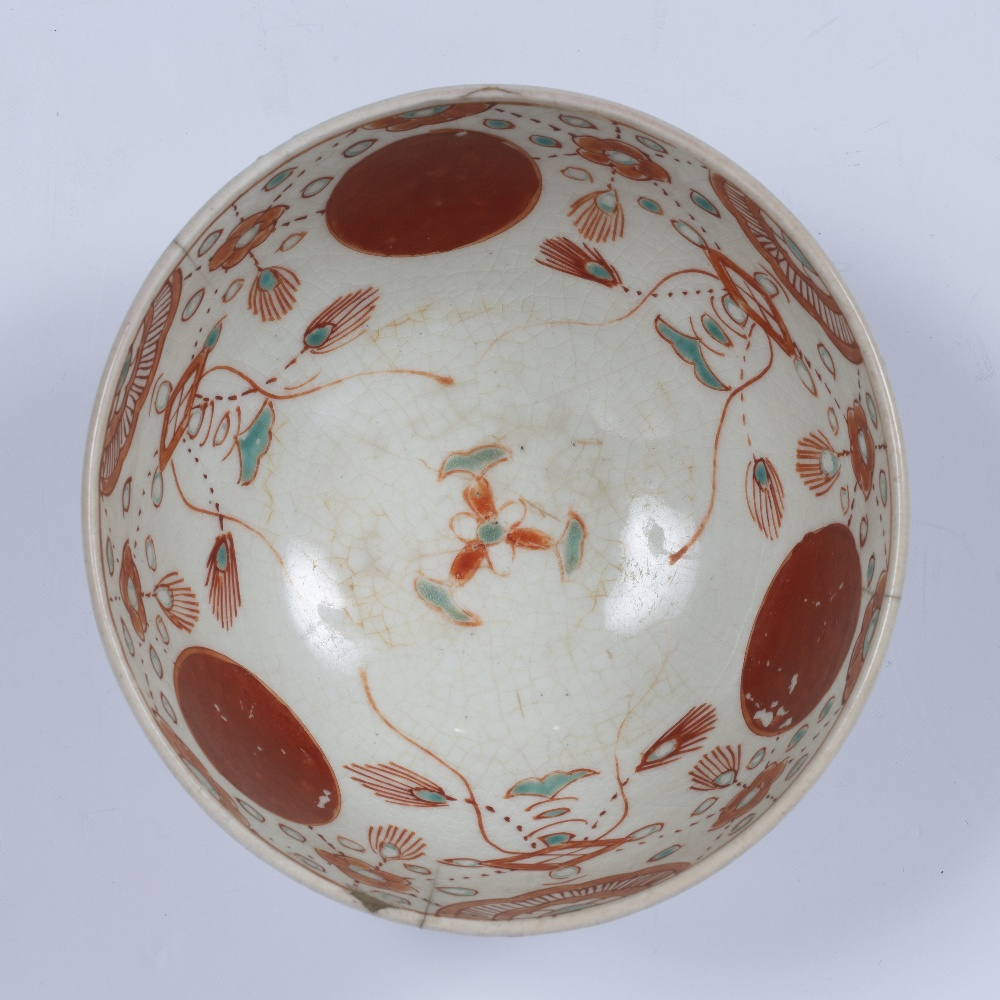 Arita ware porcelain bowl Japanese, Edo period (17th Century) decorated to the exterior and interior - Image 4 of 4