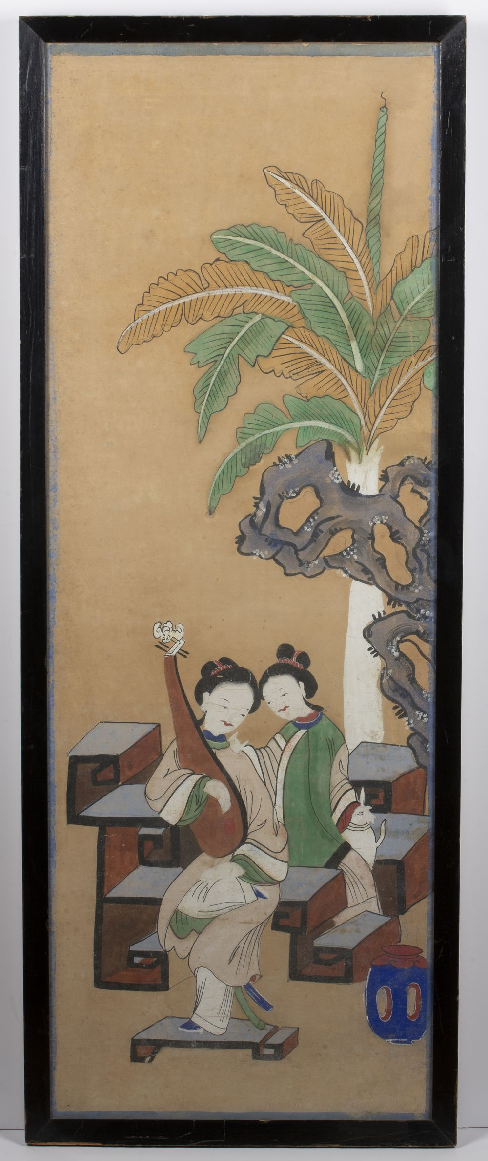 Four group court studies Chinese, 19th Century watercolour on paper of various poses and sizes, - Image 7 of 12