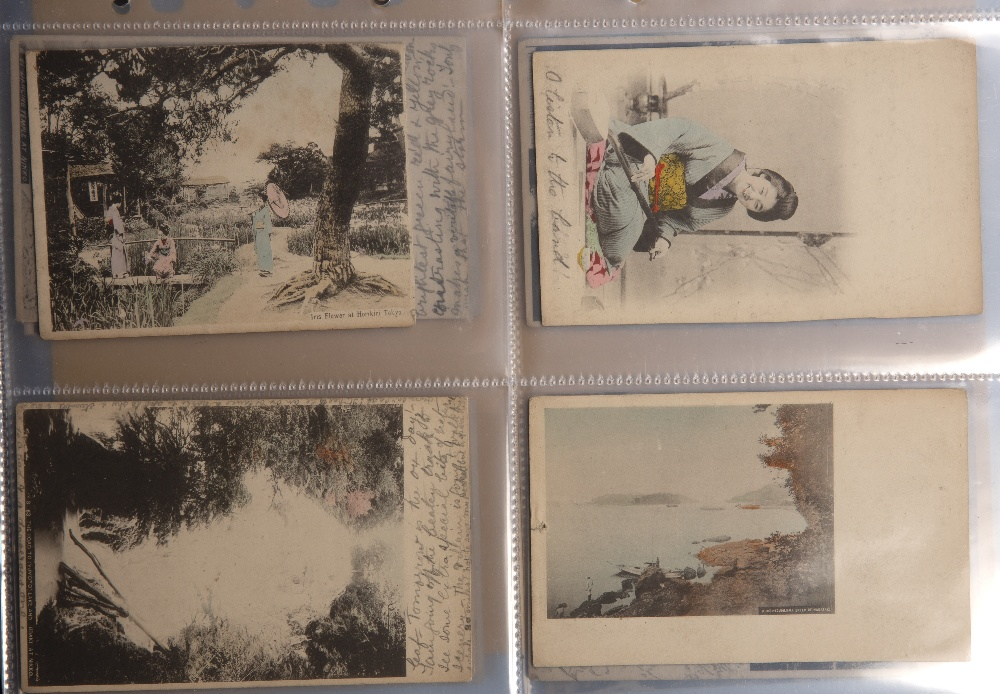 Collection of postcards including hand painted examples Malaya, Singapore, Japan and China circa - Image 2 of 6