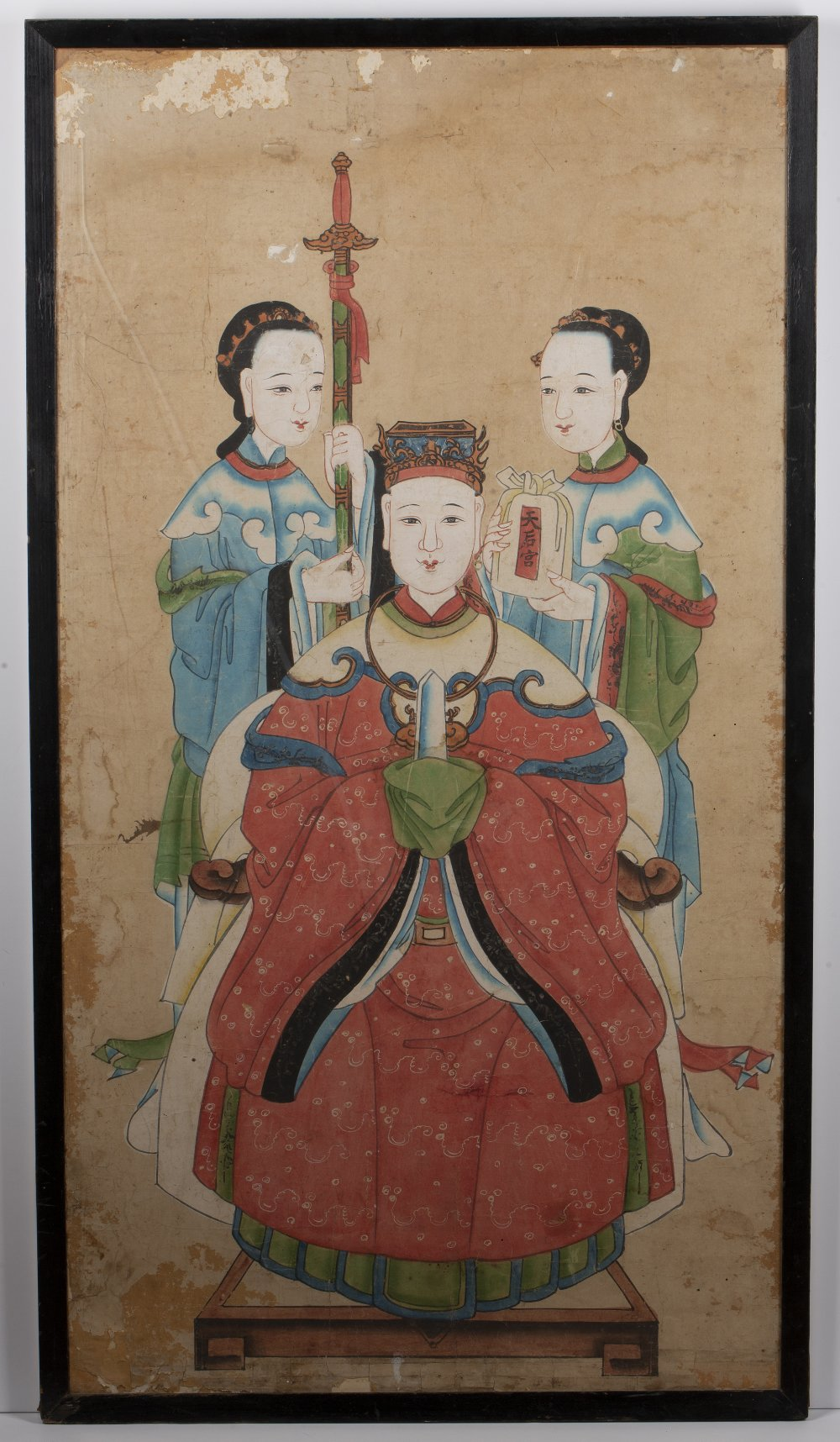Four group court studies Chinese, 19th Century watercolour on paper of various poses and sizes, - Image 6 of 12