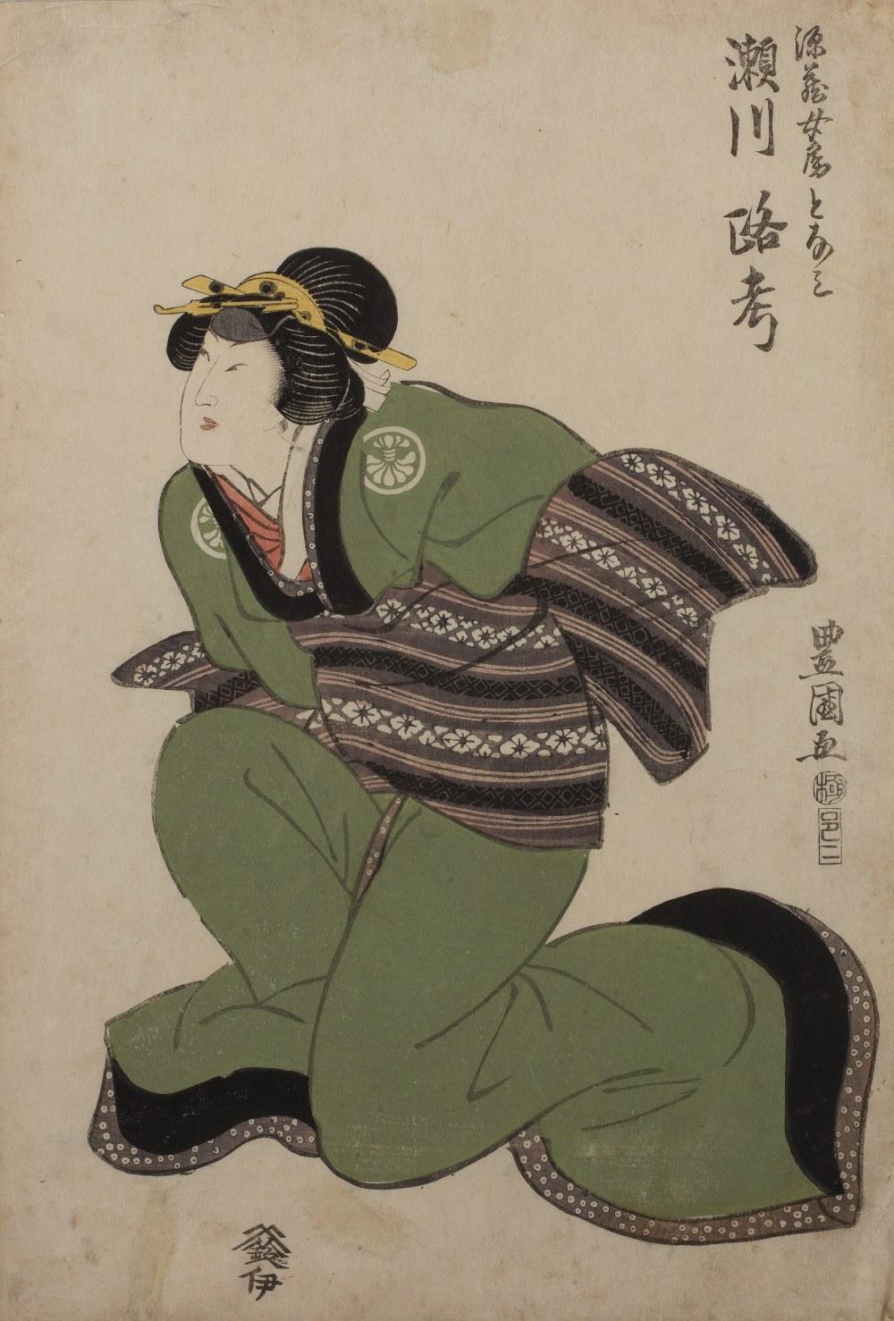 Utagawa Toyokuni I (1769-1825) Segawa Roko in onnagata role, Genzos wife, Tonami' Japanese